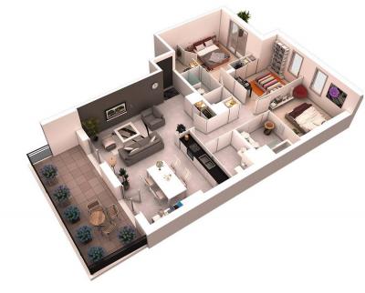 10 mô hình 3D tuyệt đẹp cho những ngôi nhà trên 3 phòng ngủ