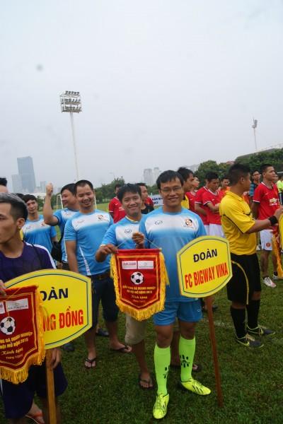 Chùm ảnh lễ khai mạc giải bóng đá doanh nghiệp Hà Nội mở rộng 2015  Tin Anh