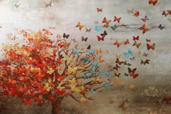 Tranh Tree & Butterfly