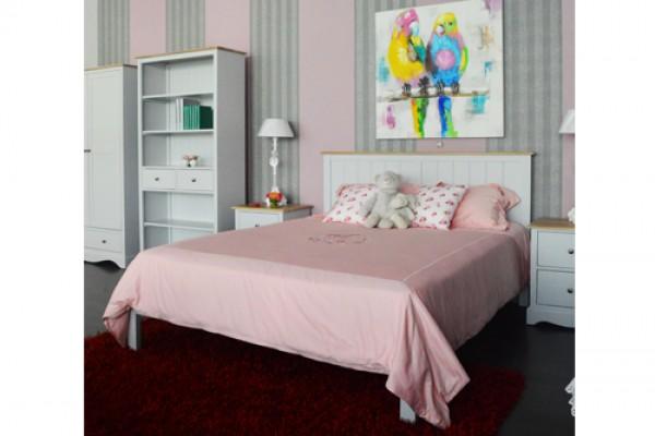 Giường gỗ Sồi Nga Lily 1m6